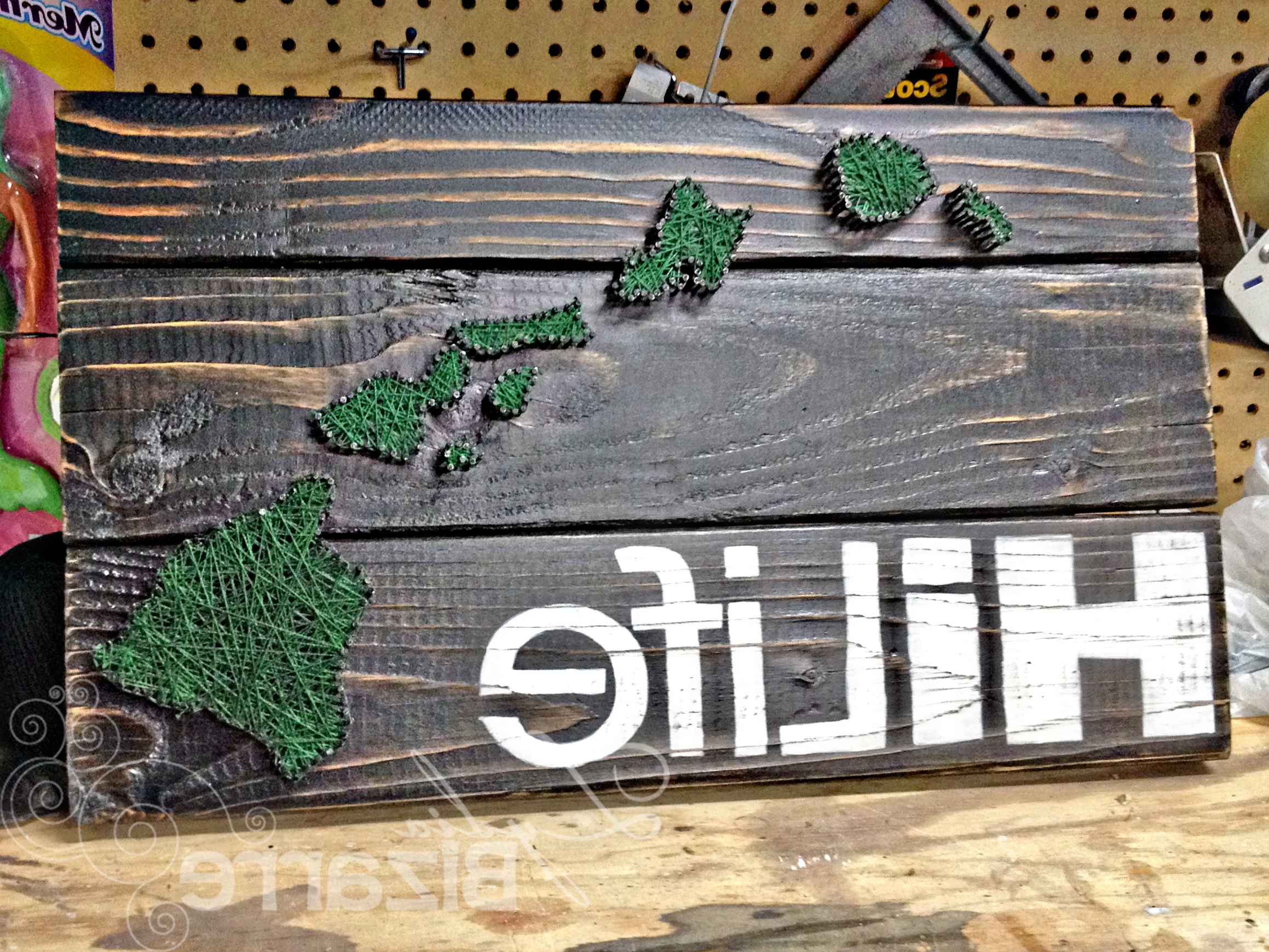 Trendy Hawaii String Art Idea With Decal – Make Your Favorite Island In With Hawaiian Wall Art (Gallery 13 of 15)