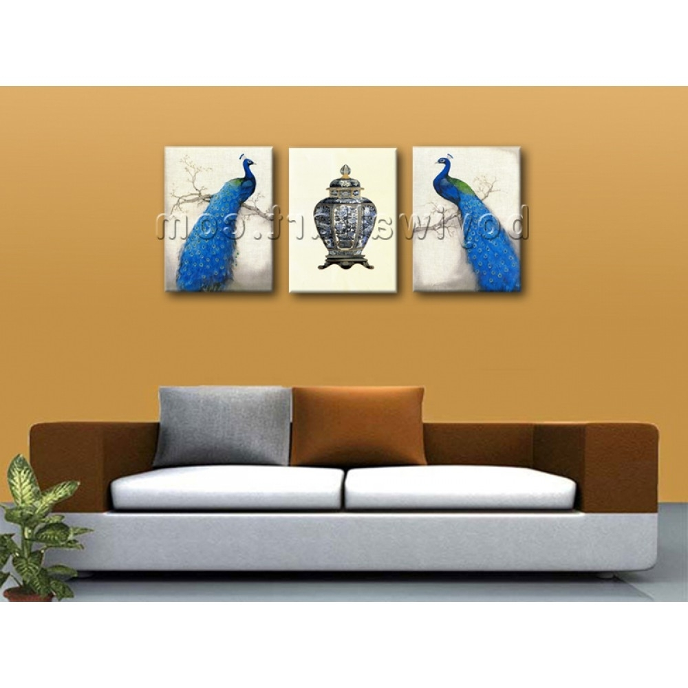 Trendy Large Giclee Print On Canvas Peacock Abstract Wall Art Living Room Pertaining To Abstract Wall Art Living Room (View 6 of 15)