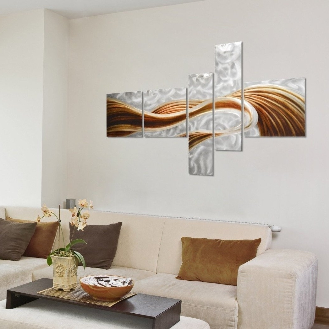 Trendy Large Modern Wall Art With Regard To Pure Art Caramel Desire Contemporary Metal Artwork – Large Modern (View 14 of 15)
