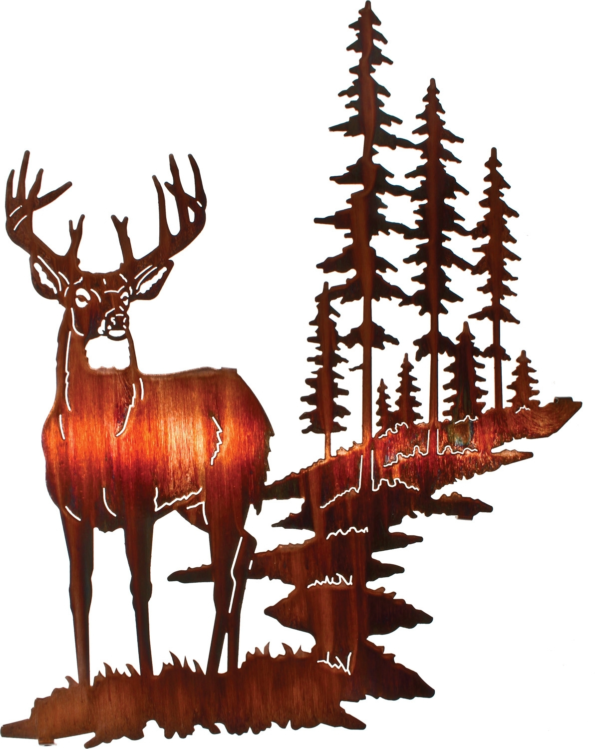 "Trendy Lazart Metal Wall Art Within 18"" Whitetail Deer Wall Art Www (View 9 of 15)"