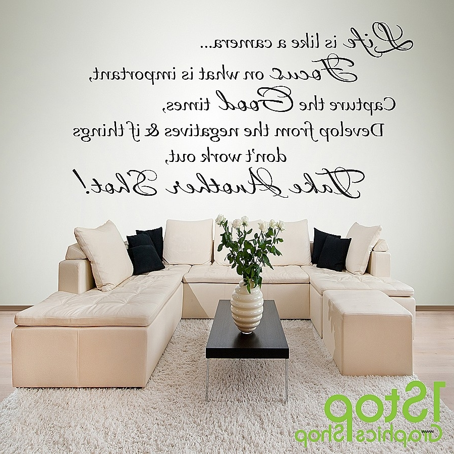 Trendy Life Is Good Wall Art In Life Is Good Wall Art Fresh Life Is Like A Camera Wall Sticker (View 2 of 15)
