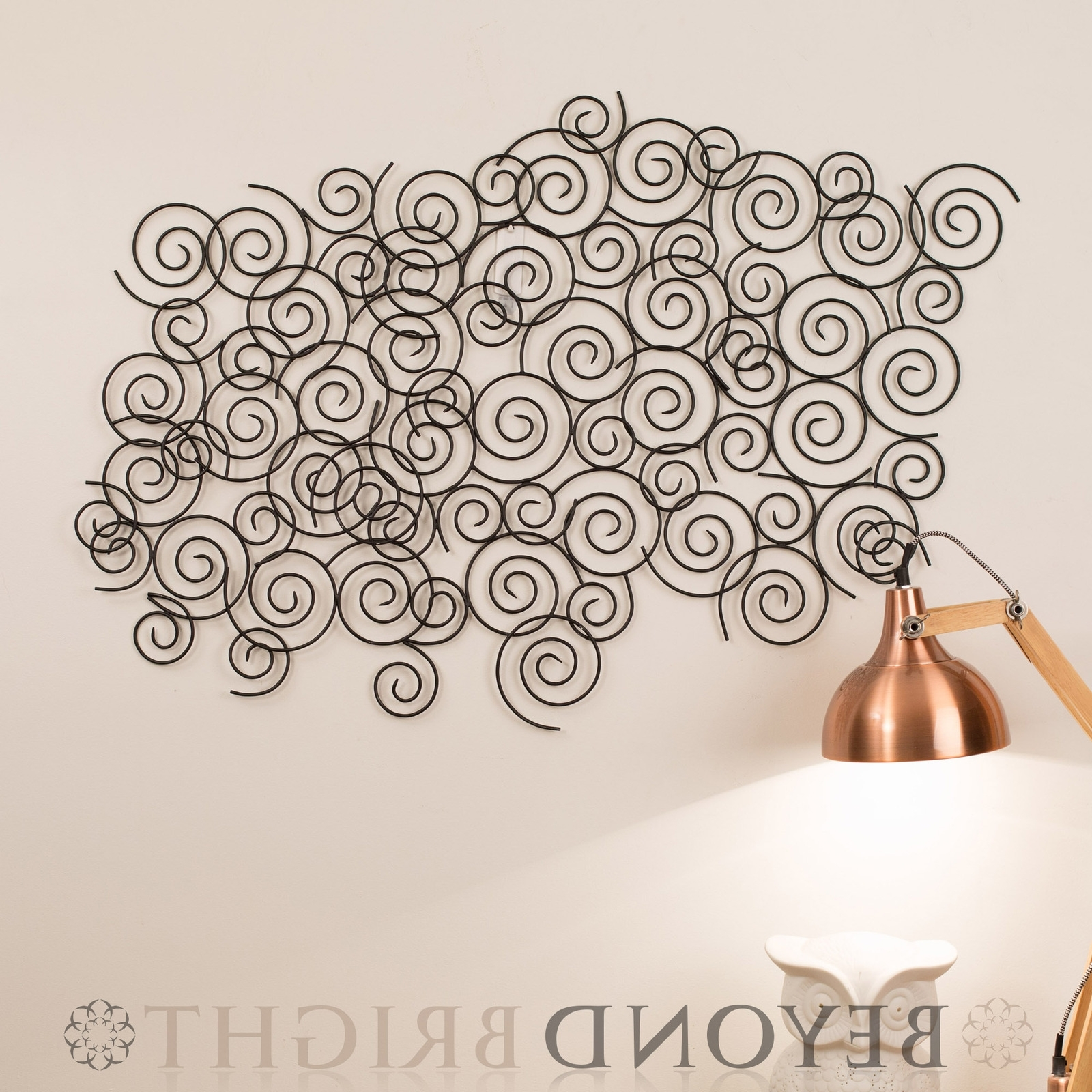 Featured Photo of Swirl Metal Wall Art