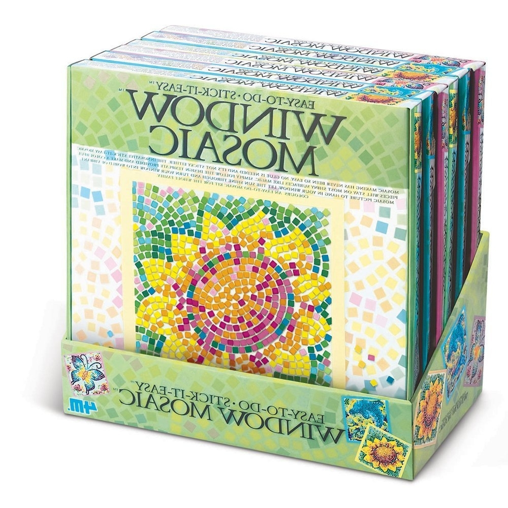 Trendy Mosaic Art Kits For Adults With Amazon: 4M Window Mosaic Art (Designs May Vary): Toys & Games (View 14 of 15)