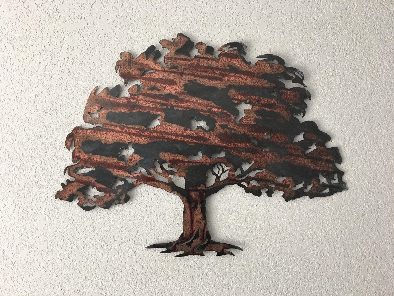 Trendy Oak Tree – Metal Tree Art – Wall Art Pertaining To Oak Tree Wall Art (View 12 of 15)
