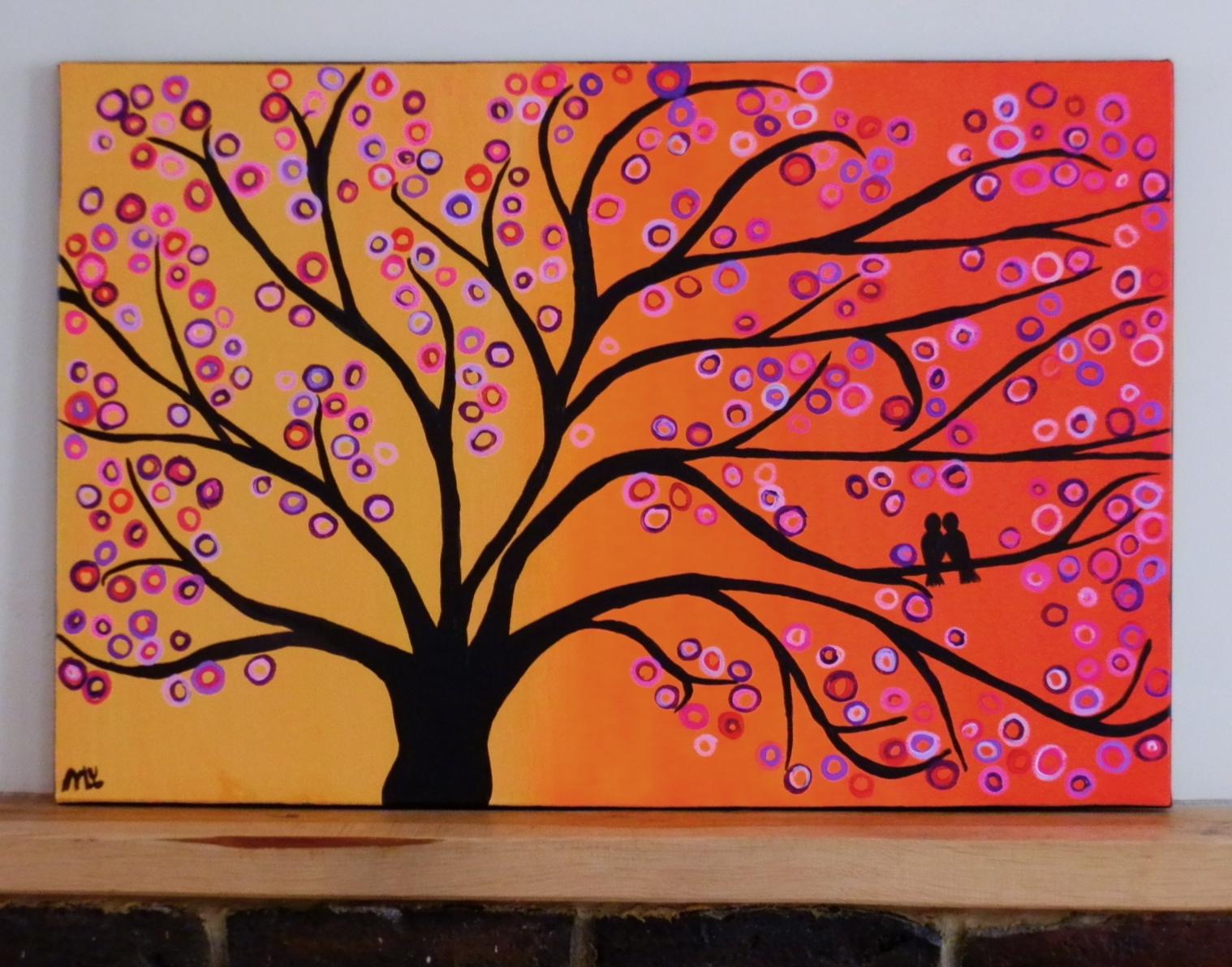 Trendy Painted Trees Wall Art Regarding Paintings (View 12 of 15)