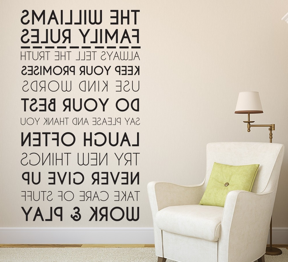 Trendy Personalized Family Wall Art For Family Wall Art Decals In Clever Kids Rooms Decal Diyhome (View 15 of 15)