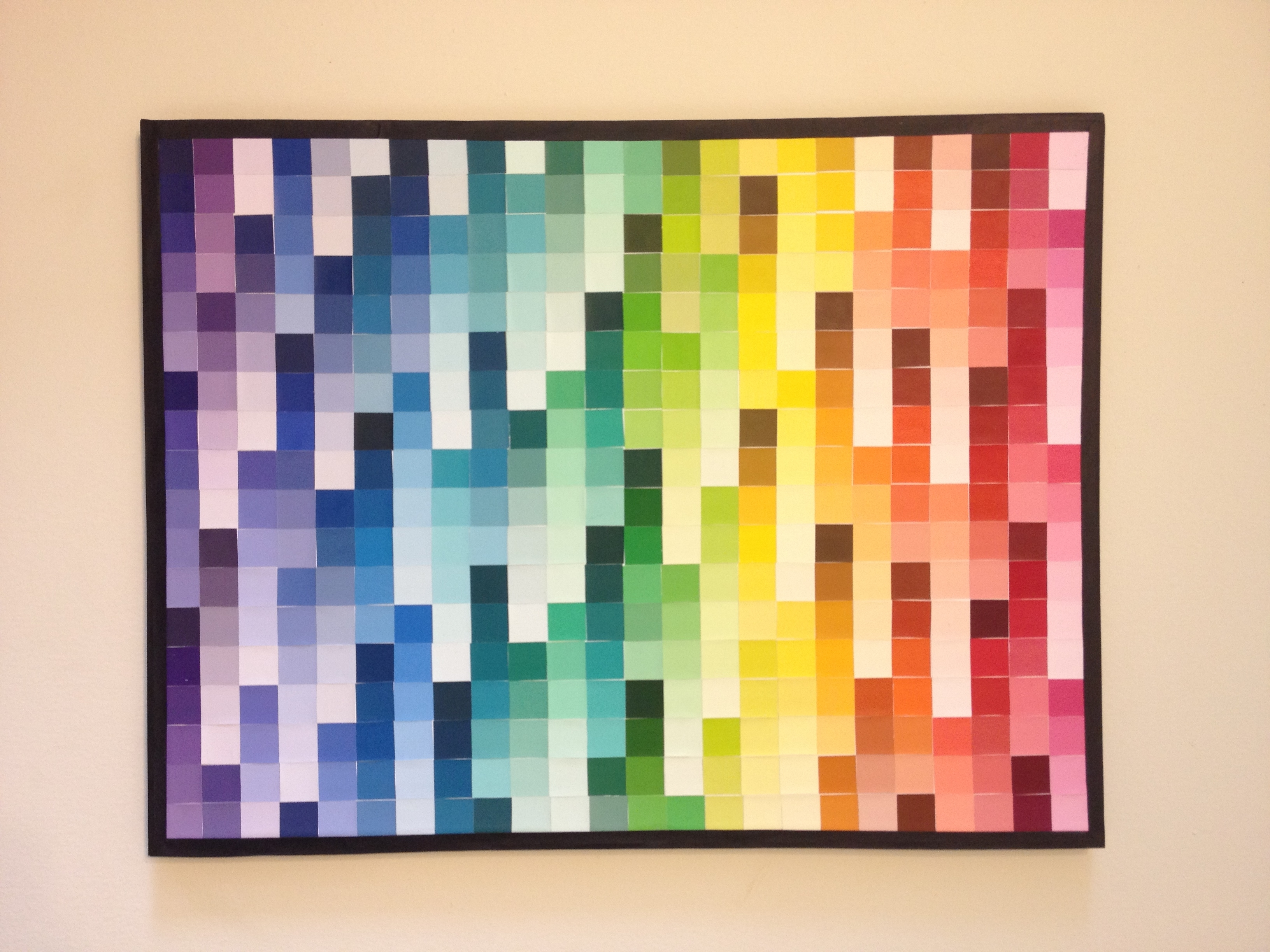 Trendy Pixel Mosaic Wall Art With I Made My Own Version Of The Paint Chip Art Pixel Style (View 14 of 15)