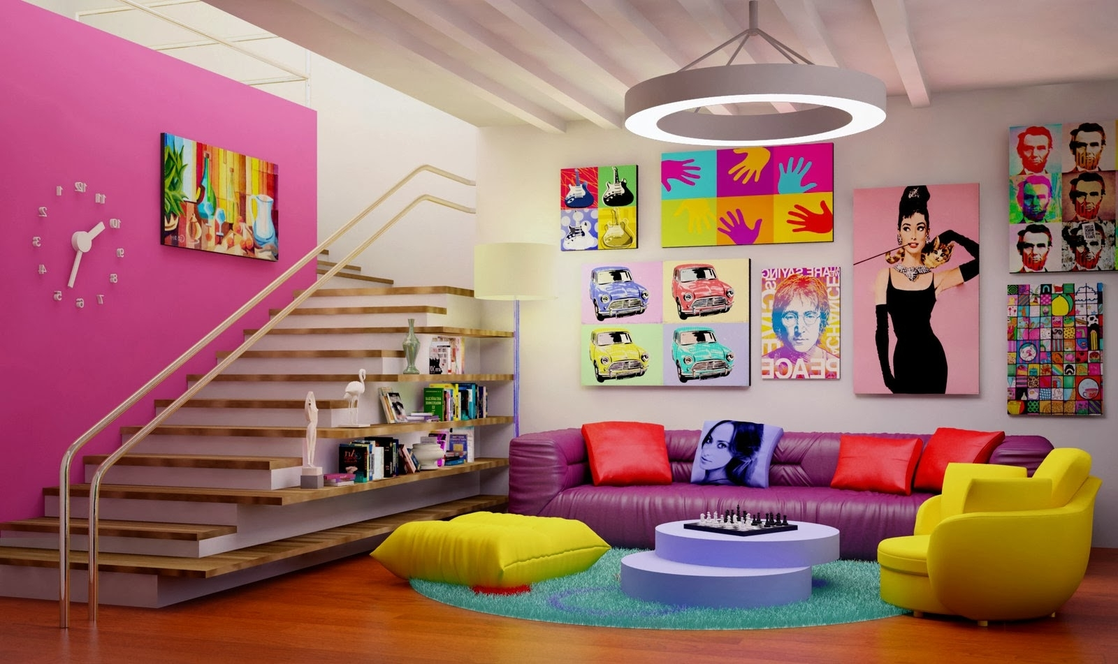 Trendy Pop Art Wallpaper For Walls Inside Pit Sofa, Pop Art Wallpaper Pop Art Room (View 7 of 15)