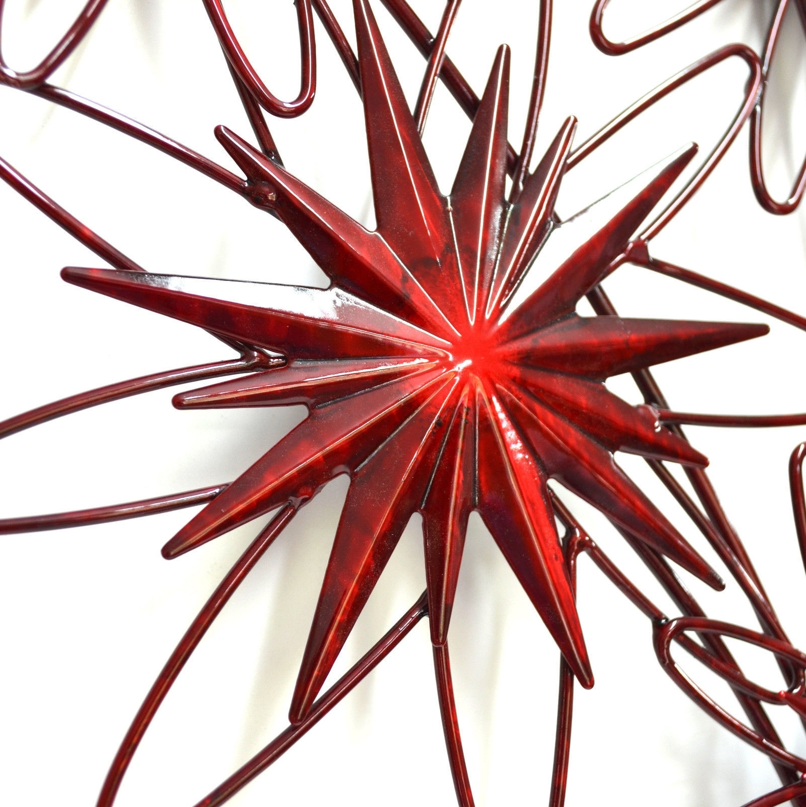 Trendy Posey Of Red Flowers Metal Wall Art 80Cm Regarding Red Flower Metal Wall Art (View 12 of 15)