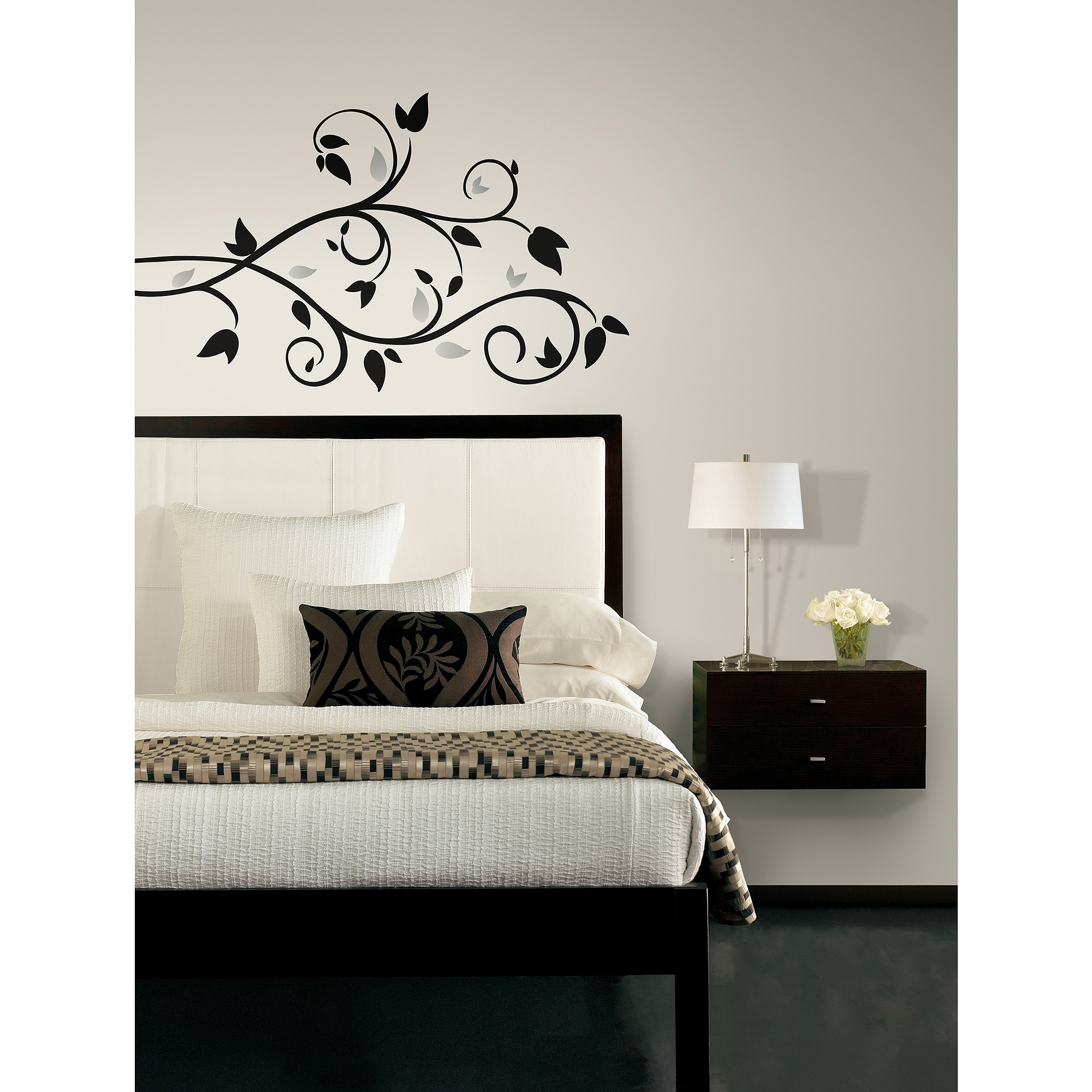 Trendy Roommates Peel And Stick Decor Wall Decals Tree Branch 57 Pieces For Walmart Wall Stickers (View 9 of 15)