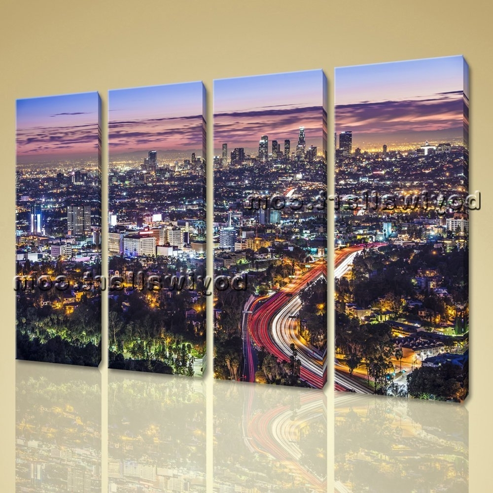 Trendy Surprising Idea Los Angeles Wall Art Lakers Canvas Angels Of Regarding Los Angeles Wall Art (View 1 of 15)