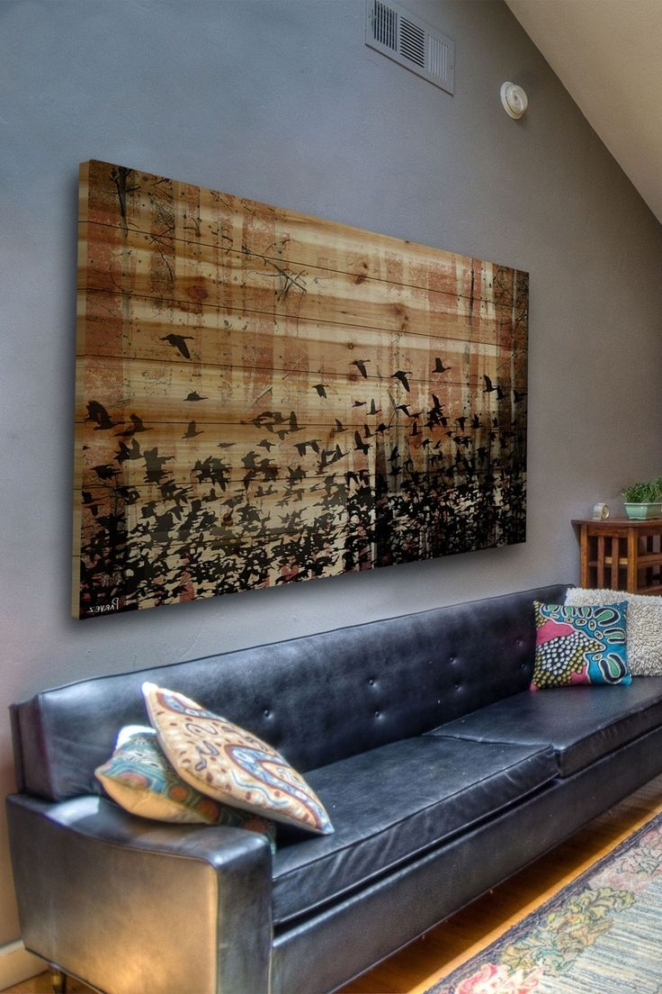 Trendy Tall Wall Art Decor With Wood Wall Art Made Of Old Barnwood And Steel (View 12 of 15)