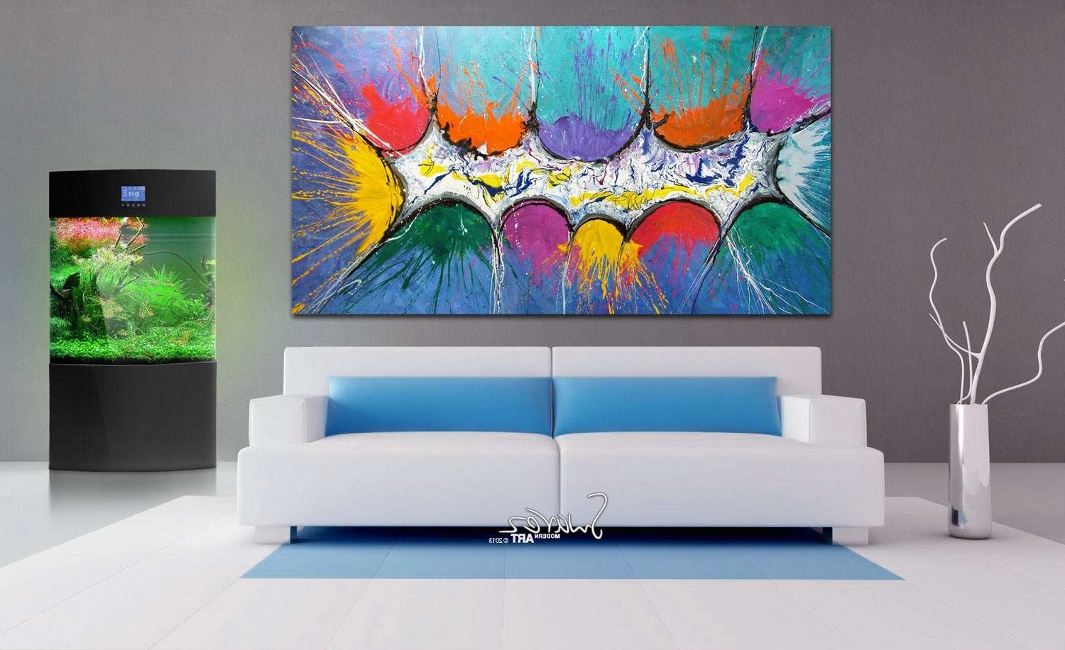 Trendy Very Big Abstract Canvas Painting (Gallery 9 of 15)