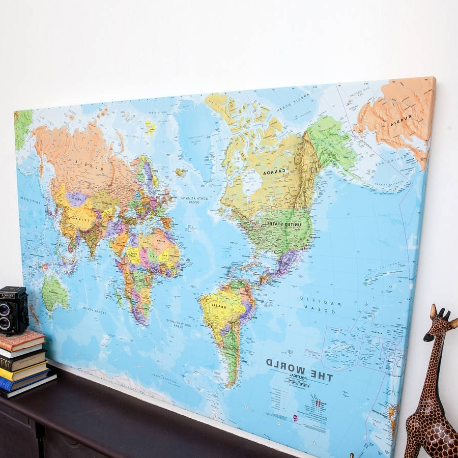 the best framed world map wall art. Black Bedroom Furniture Sets. Home Design Ideas