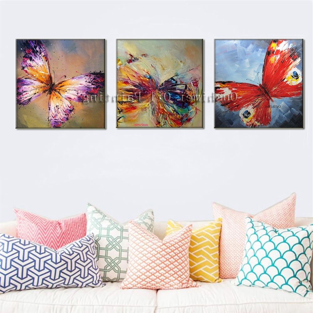 Trendy Wall Art Design: Butterfly Canvas Wall Art Sweet Design Collection Within Butterfly Canvas Wall Art (View 15 of 15)