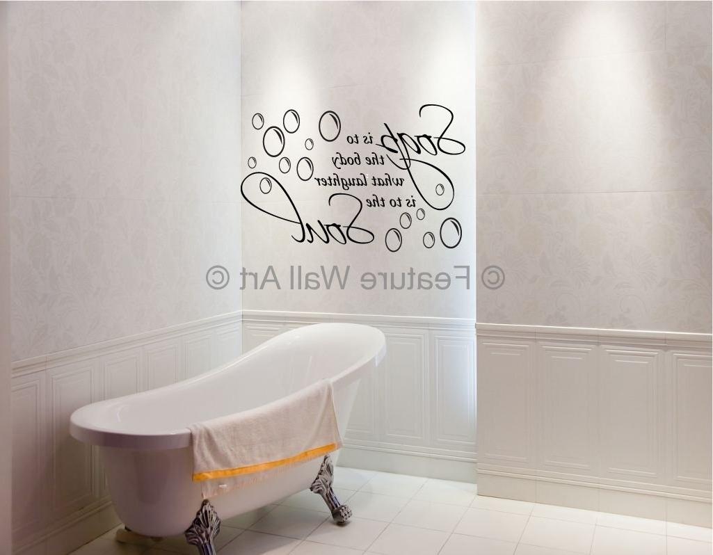 Trendy Wall Art For The Bathroom Inside Classic Bathroom Design Wall Art – Flatrocksoft (View 8 of 15)