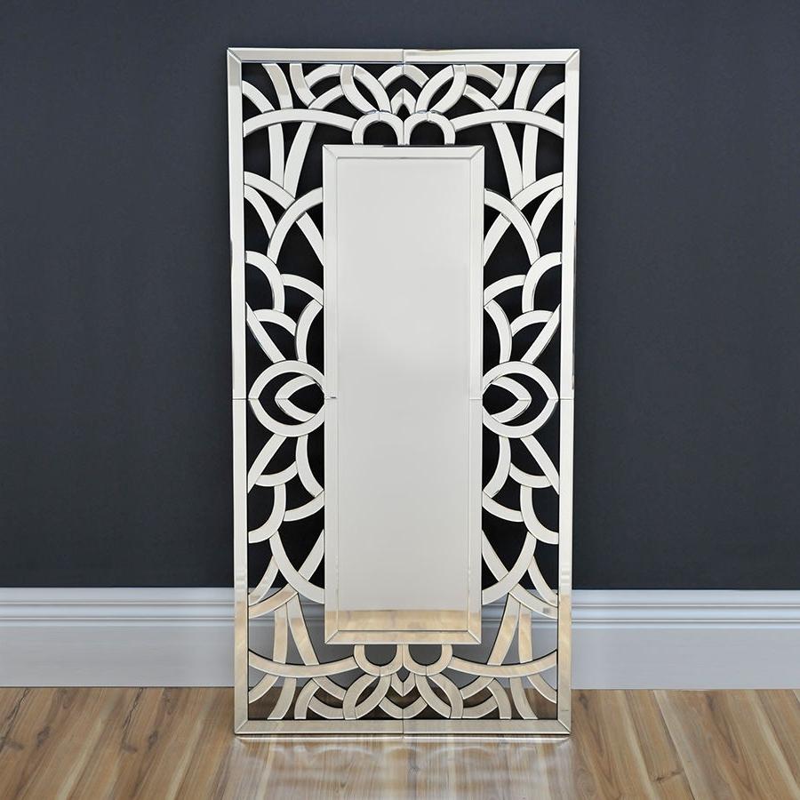 Trendy Wall Art Mirrors Contemporary Throughout Lavish Art Deco Mirror Modern Wall Mirror Floor Mirror (View 2 of 15)