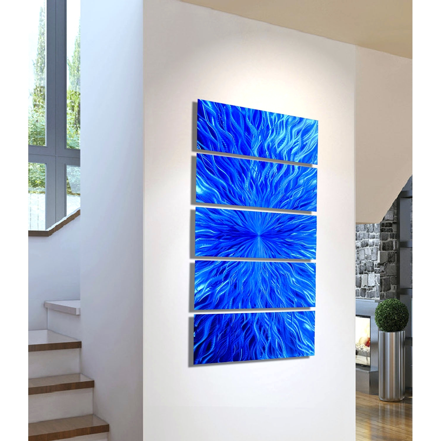 Trendy Wall Arts ~ Fused Glass Wall Artwork Blown Glass Wall Art Decor Within Fused Glass And Metal Wall Art (Gallery 9 of 15)