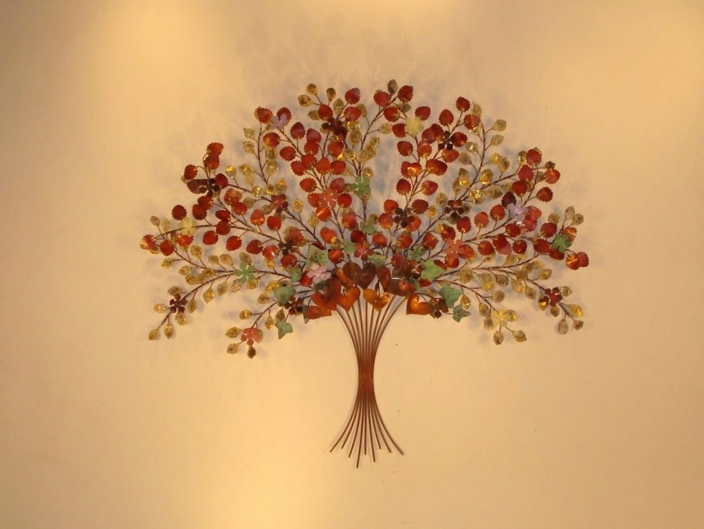 Trendy Wall Arts ~ Metal Wall Sculptures Artisan House Metal Leaf Regarding Tree Sculpture Wall Art (Gallery 14 of 15)