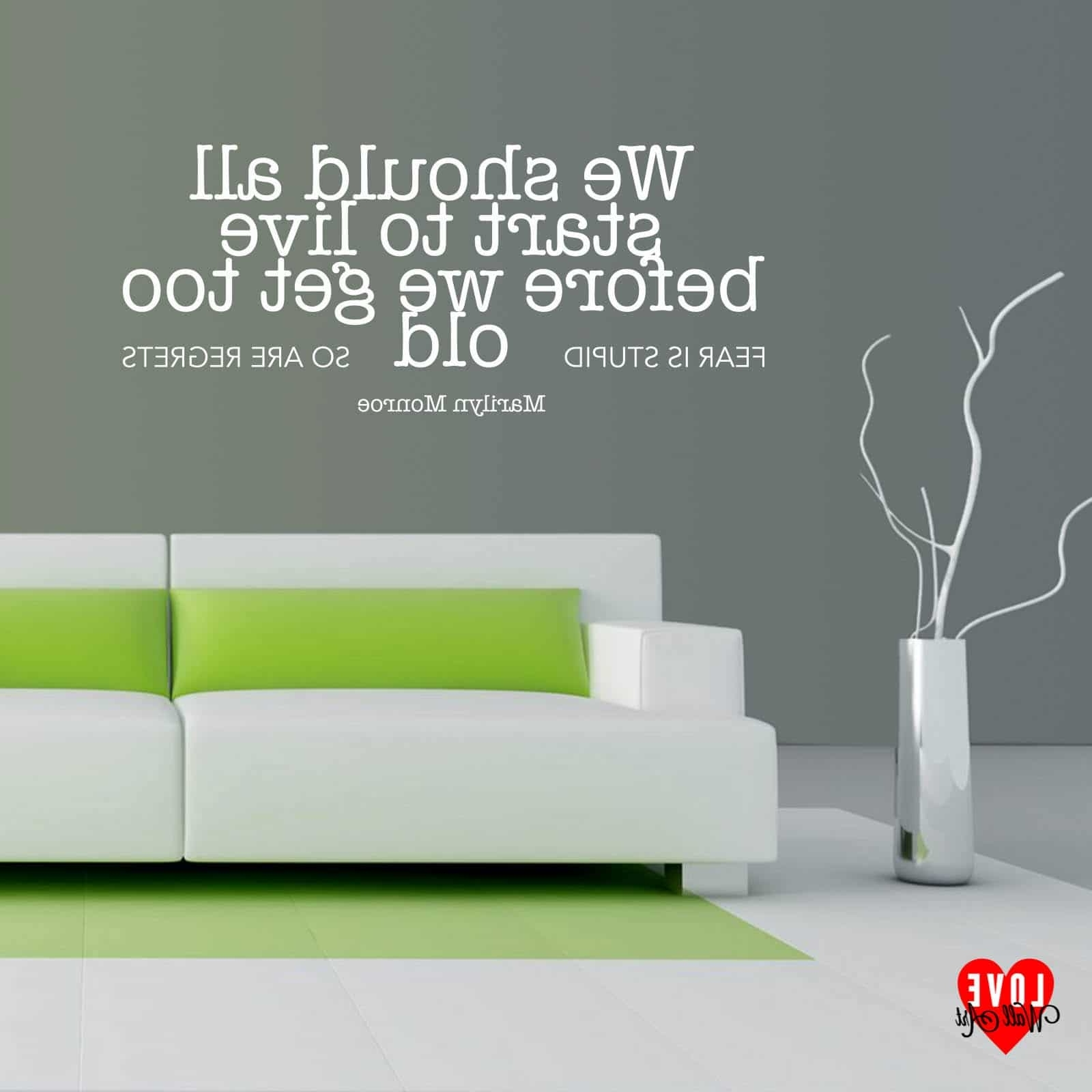Trendy We Should All Start To Live Marilyn Monroe Wall Art Quote Wall Sticker Pertaining To Marilyn Monroe Wall Art Quotes (View 14 of 15)