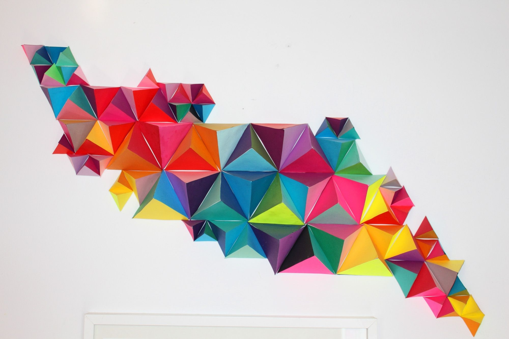 Triangles, Walls And 3d Inside 3d Triangle Wall Art (View 2 of 15)