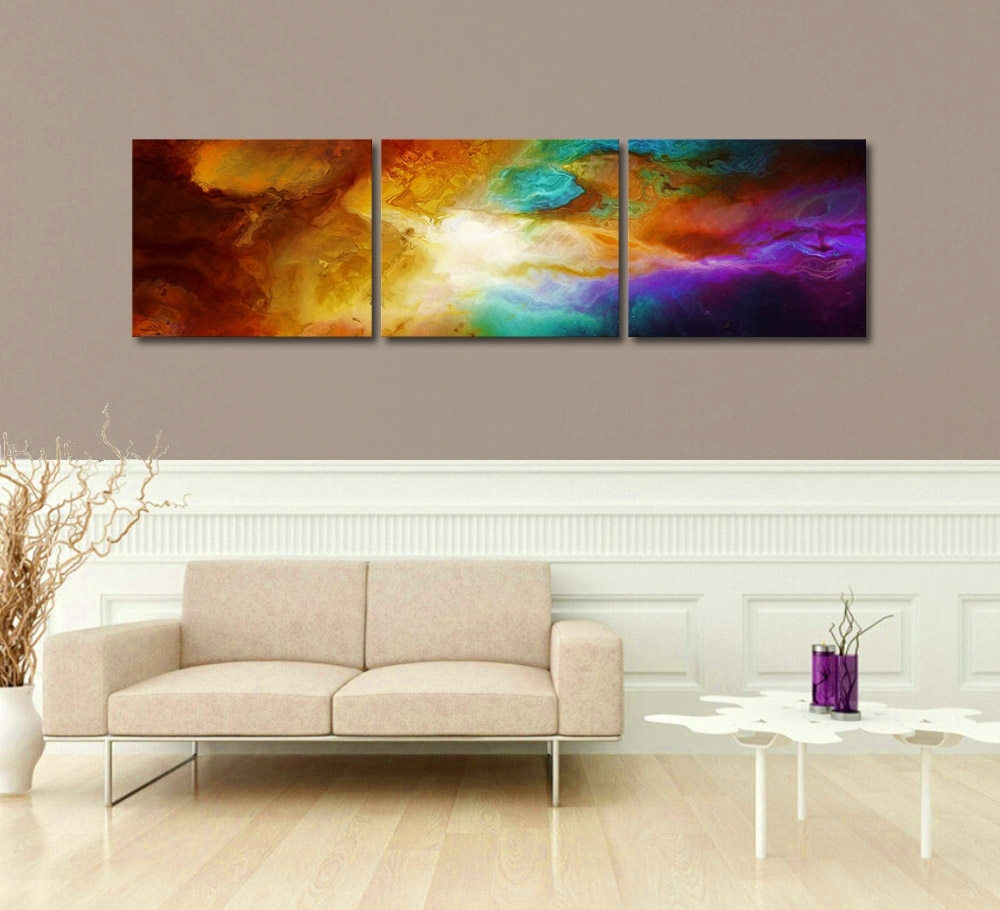 Triptych Art For Sale Regarding Widely Used Triptych 3 Panel – Abstract Art Canvas Painting (View 12 of 15)