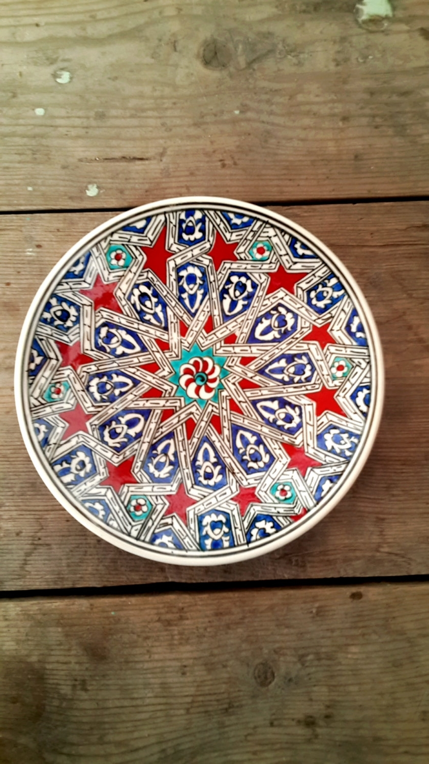 Turkish Wall Art With 2018 Hand Made Turkish Ceramic Plate / Wall Decorturqu50 On Etsy (View 13 of 15)