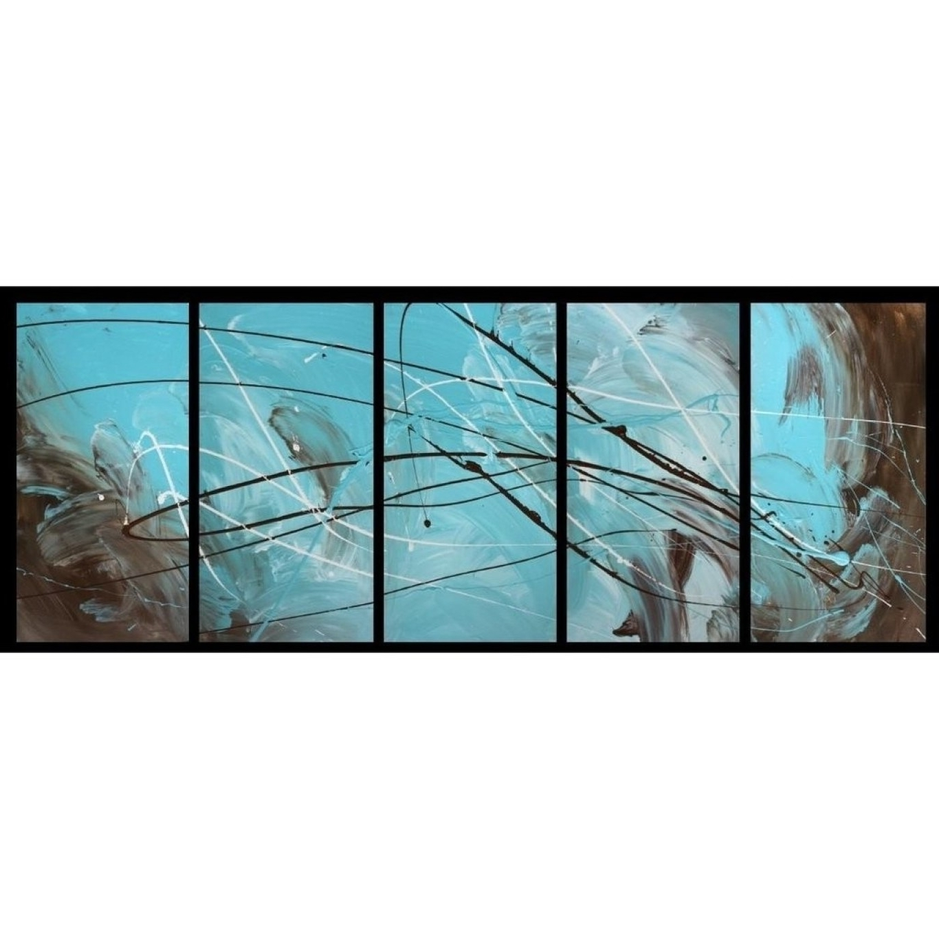 Turquoise Wall Art Within Most Recent Red And Turquoise Wall Art (View 8 of 15)