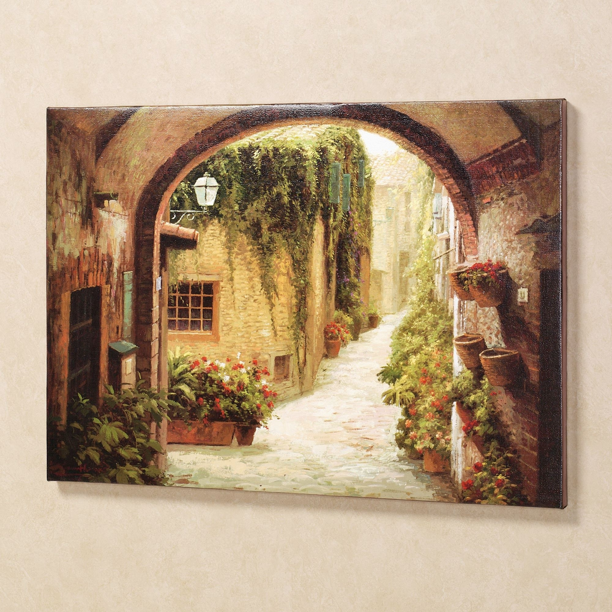 Tuscan Italian Canvas Wall Art In Current Morning Stroll Canvas Wall Art (Gallery 7 of 15)