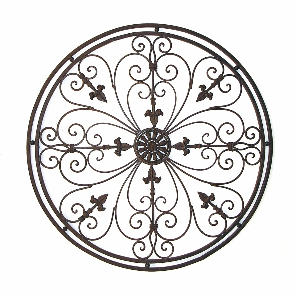 Tuscan Wrought Iron Wall Art Throughout Recent Wall Art Design Ideas: Tuscan Wrought Round Metal Wall Art Iron (View 11 of 15)