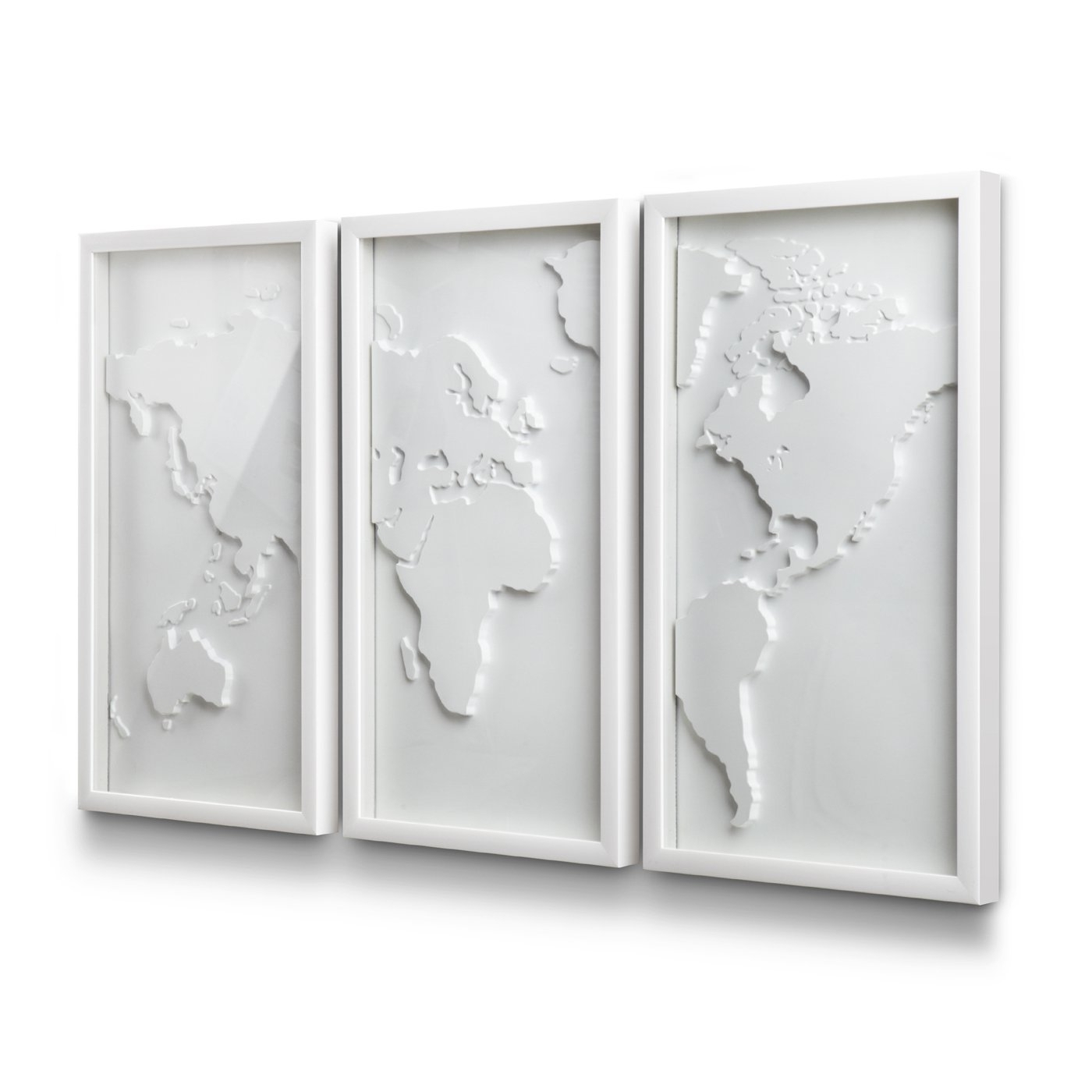 Umbra 3D Wall Art Within Most Popular Umbra 470180 660 Mapster Wall Decor (Set Of 3) (View 13 of 15)