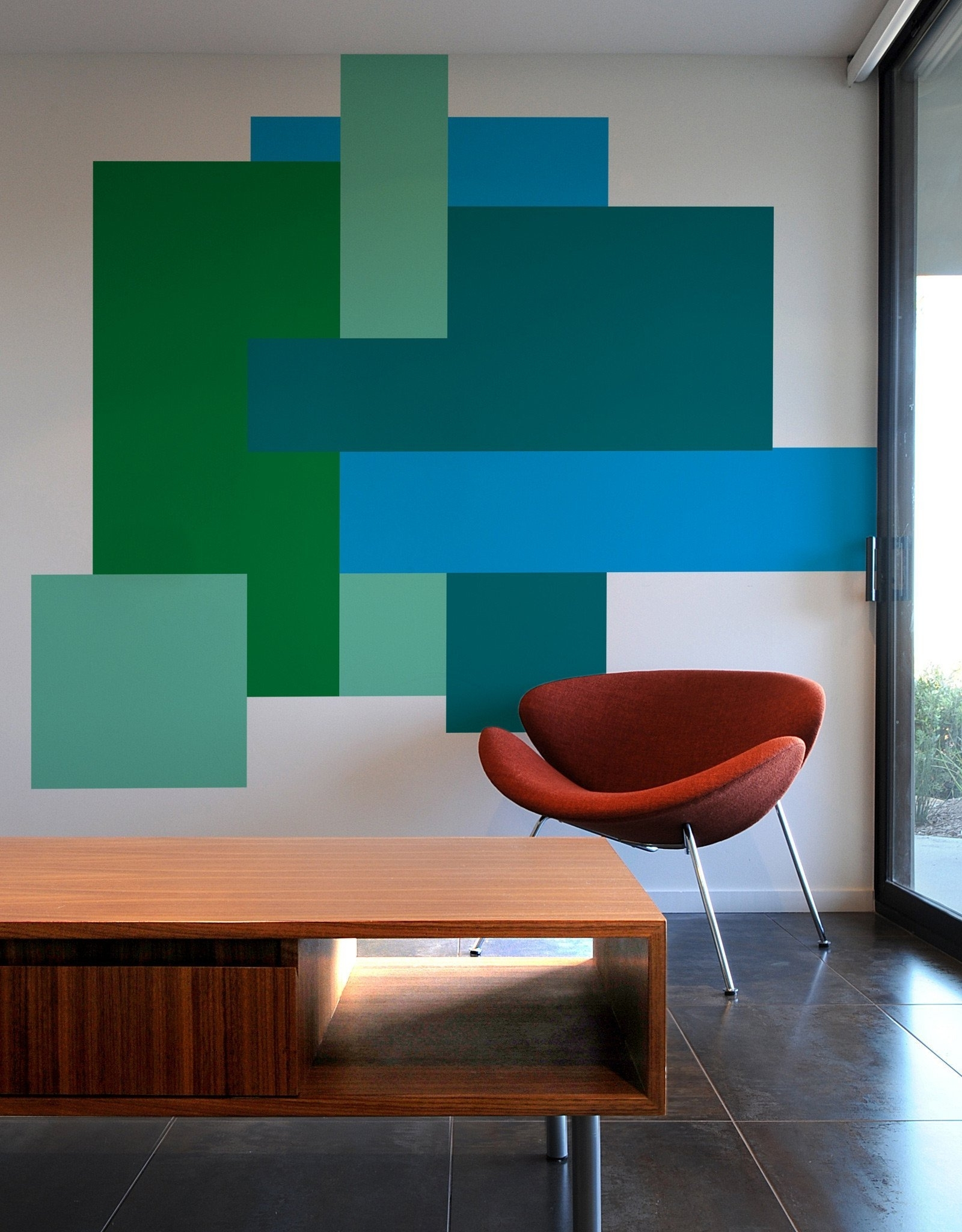 Unbelievable Color Block Wall Art Self Adhesive Vinyl Stickers Inside Popular Blik Wall Art (View 12 of 15)