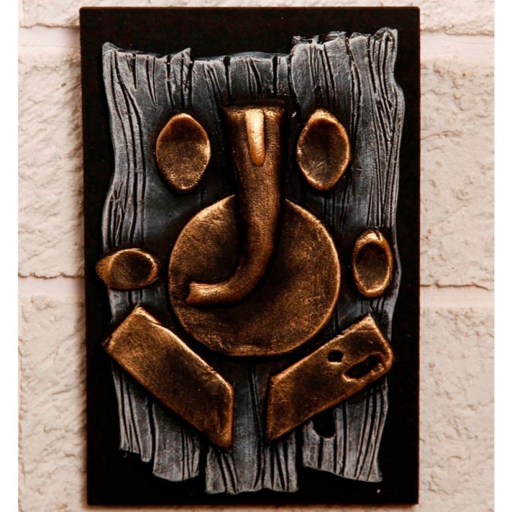 Unravel India Terracotta Abstract Ganesha Wall Decor Throughout Most Popular Abstract Ganesha Wall Art (Gallery 11 of 15)