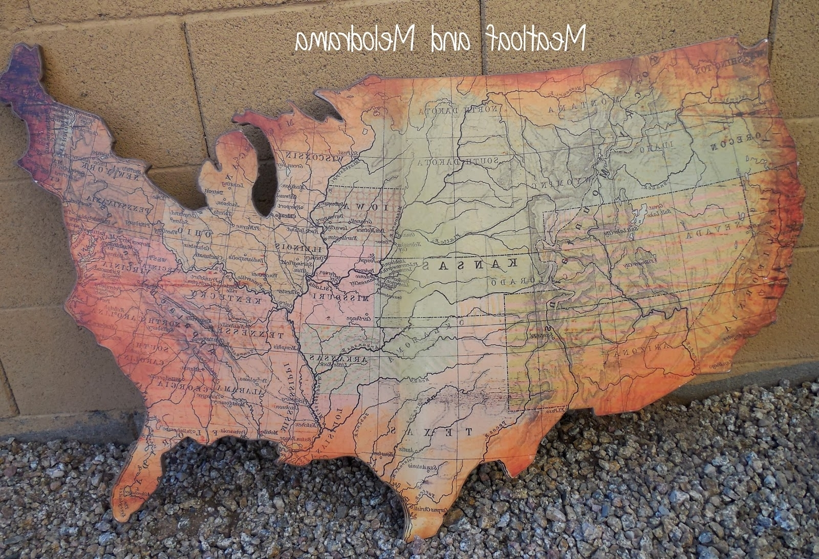 Us Map Wall Art Pertaining To Popular Rustic Wooden Wall Art – Meatloaf And Melodrama (View 12 of 15)