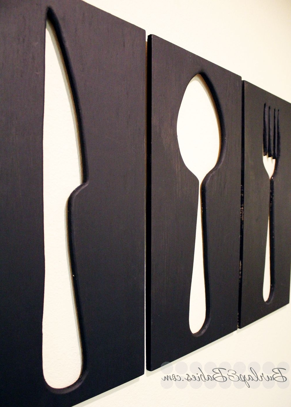 Utensils, Dining Room Wall Regarding Most Current Utensil Wall Art (View 13 of 15)