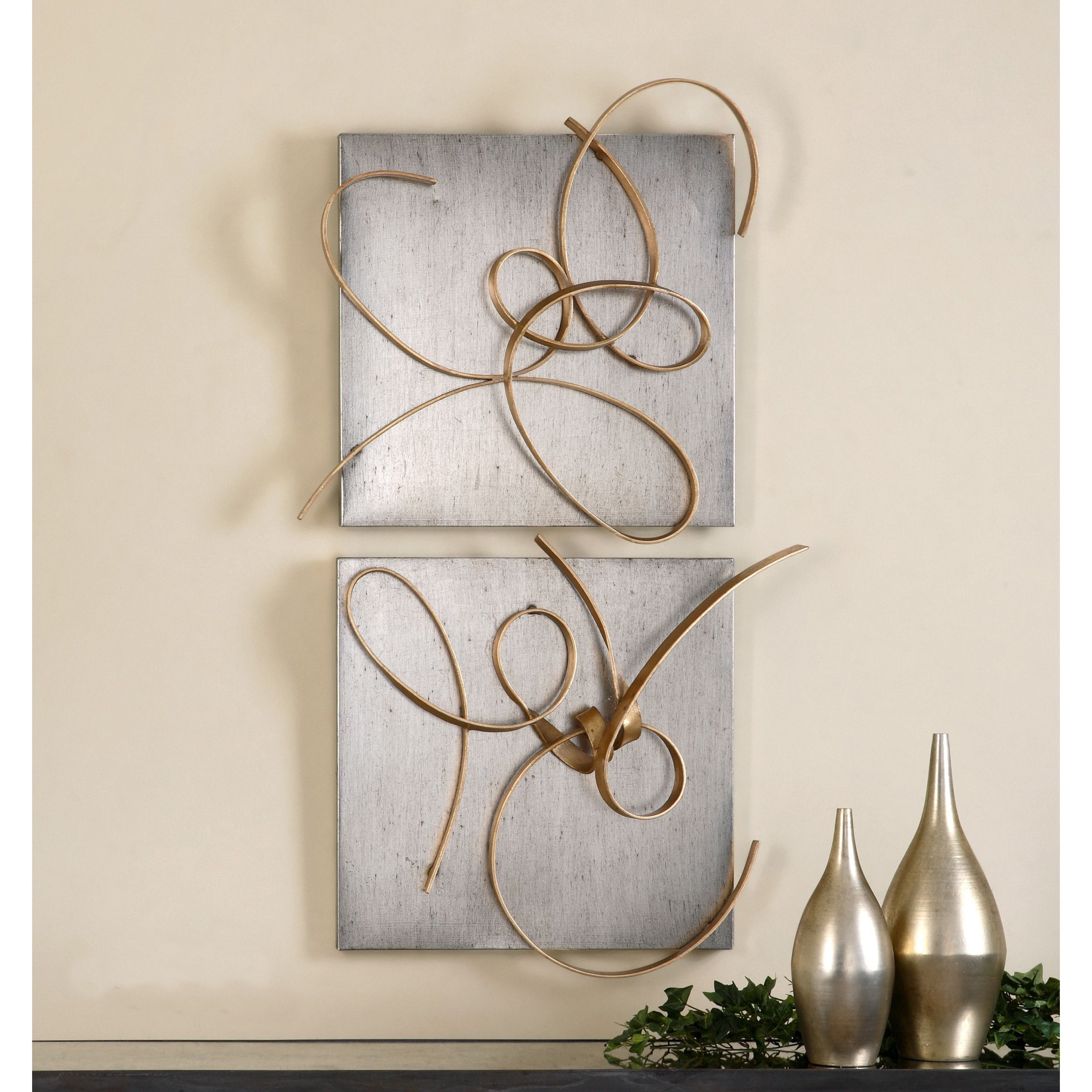Uttermost Harmony Metal Wall Art (Set Of 2) – Free Shipping Today Intended For 2017 Uttermost Metal Wall Art (View 3 of 15)