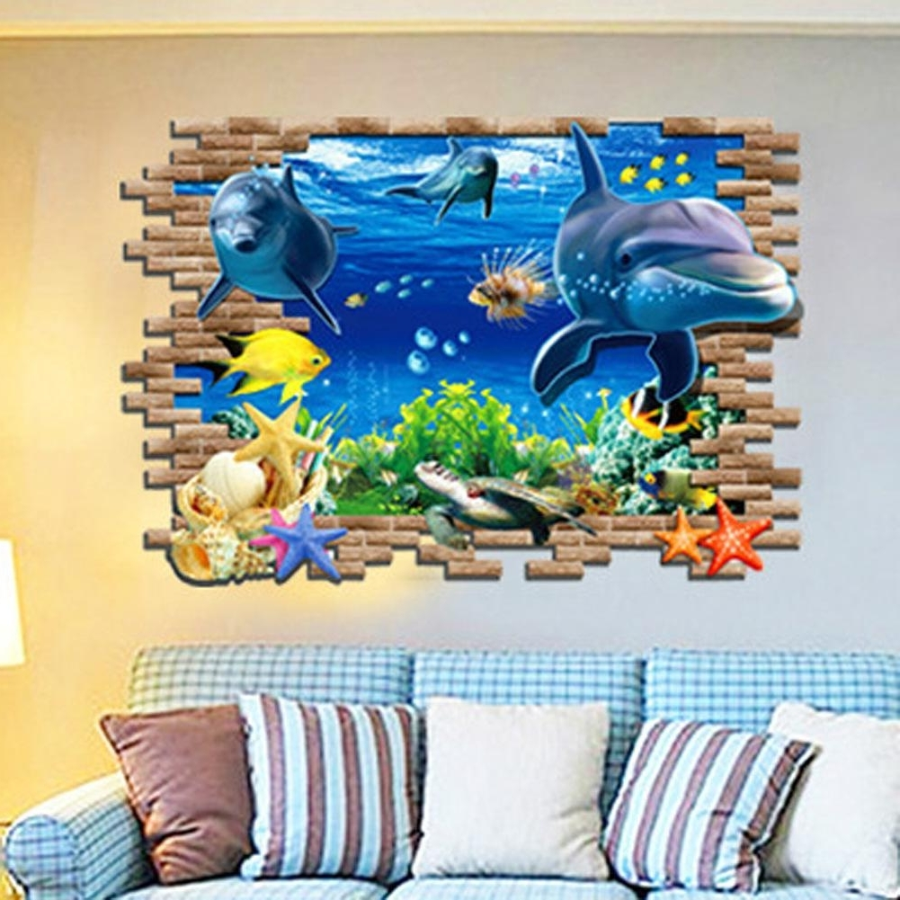Venezuela Wall Art 3D Pertaining To Recent 3D Sea World Wall Stickers Submarine World Decorative Wall Decal (Gallery 15 of 15)