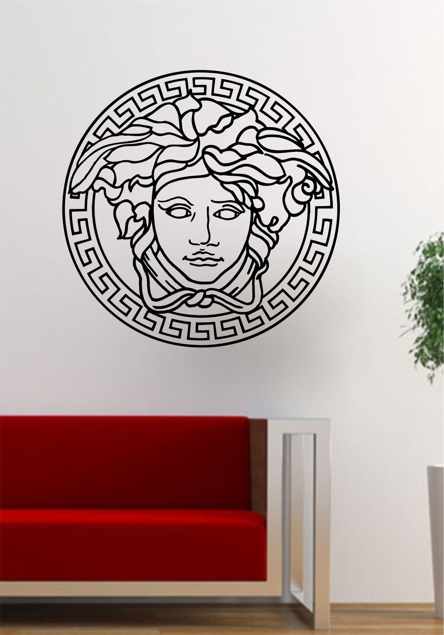 Versace Logo Medusa Decal Sticker Wall Vinyl Decor Art (View 9 of 15)