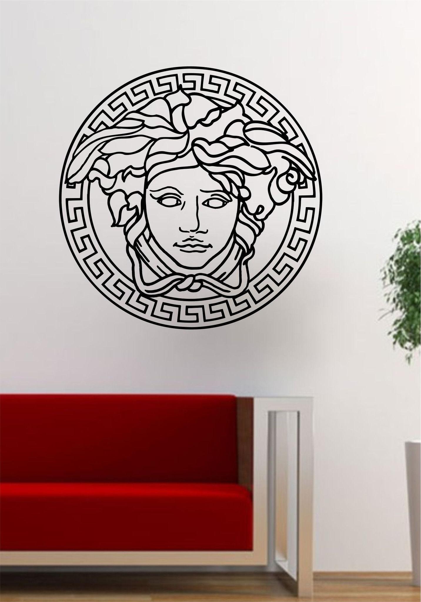 Versace Logo Medusa Decal Sticker Wall Vinyl Decor Art (Gallery 1 of 15)
