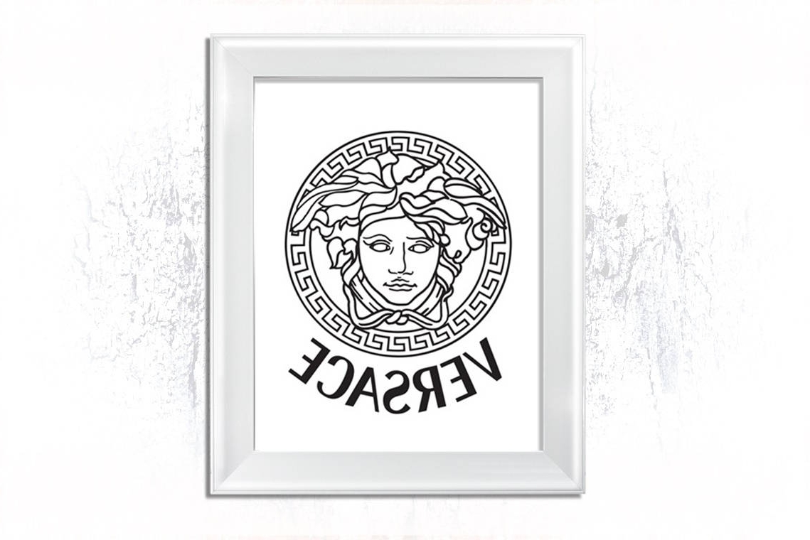 Versace Wall Art Within Famous Versace Logo Printable Versace Sign Vesrace Medusa Versace (View 12 of 15)
