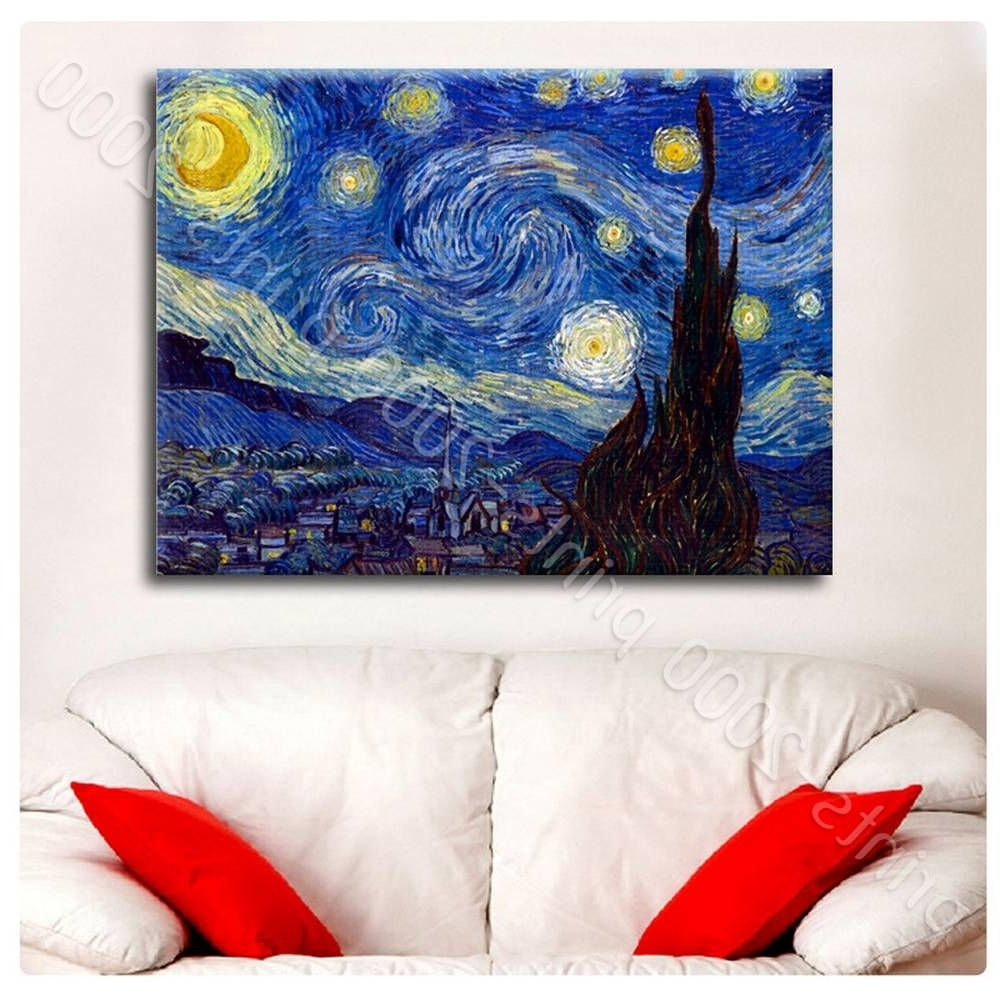 Vincent Van Gogh Wall Art With Latest Poster Or Sticker Decals Vinyl Starry Night Vincent Van Gogh Wall (View 6 of 15)