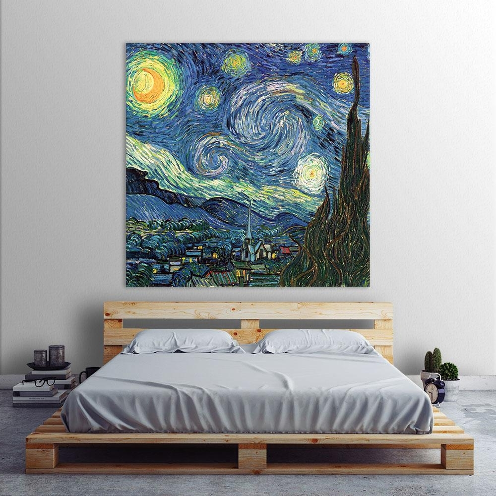 "Vincent Van Gogh Wall Art With Regard To Well Liked Clicart 54 In. X 54 In. ""blue Sky""vincent Van Gogh Printed (Gallery 11 of 15)"