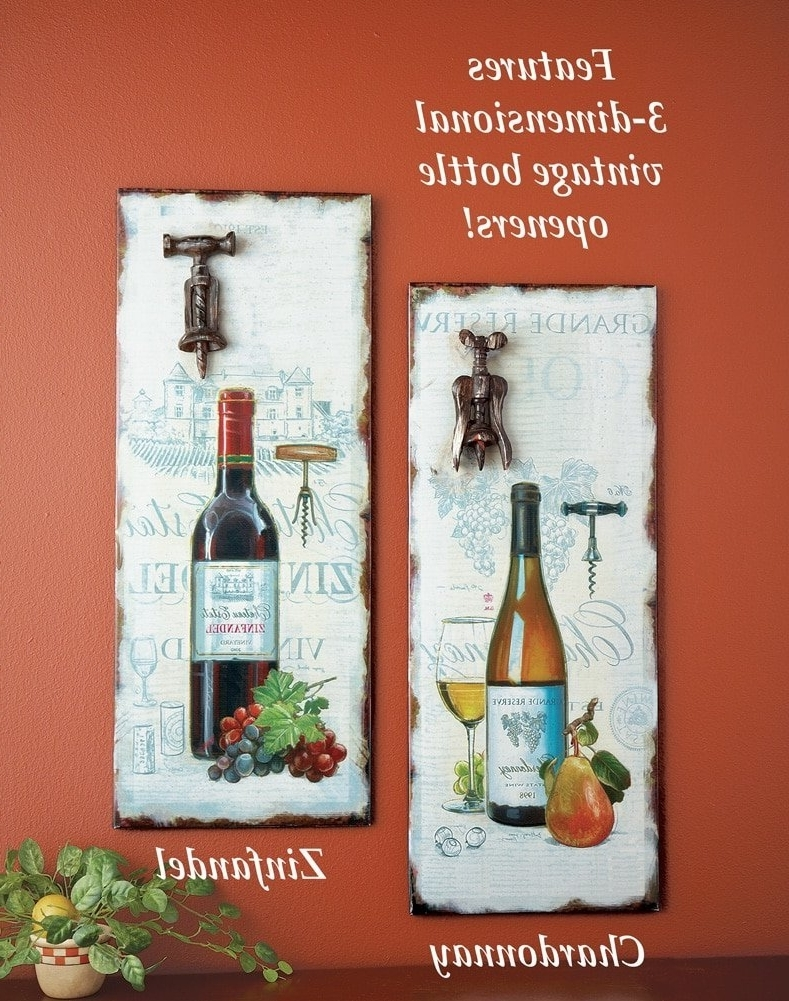 Vintage 3D Wall Art Throughout Most Current Amazon: Vintage 3D Wine Bottle Opener Wall Art, Zinfandel (View 11 of 15)