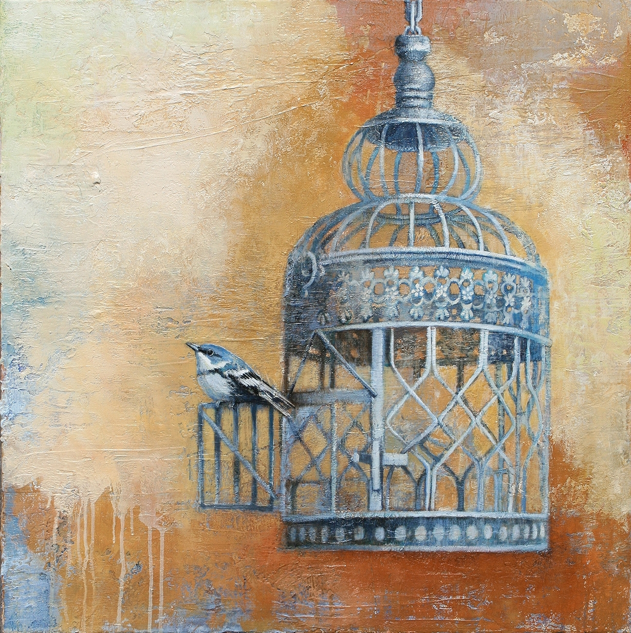Vintage Bird Cages Interest Me Along With The Theme Of Freedom Regarding Most Current Old Italian Wall Art (View 14 of 15)