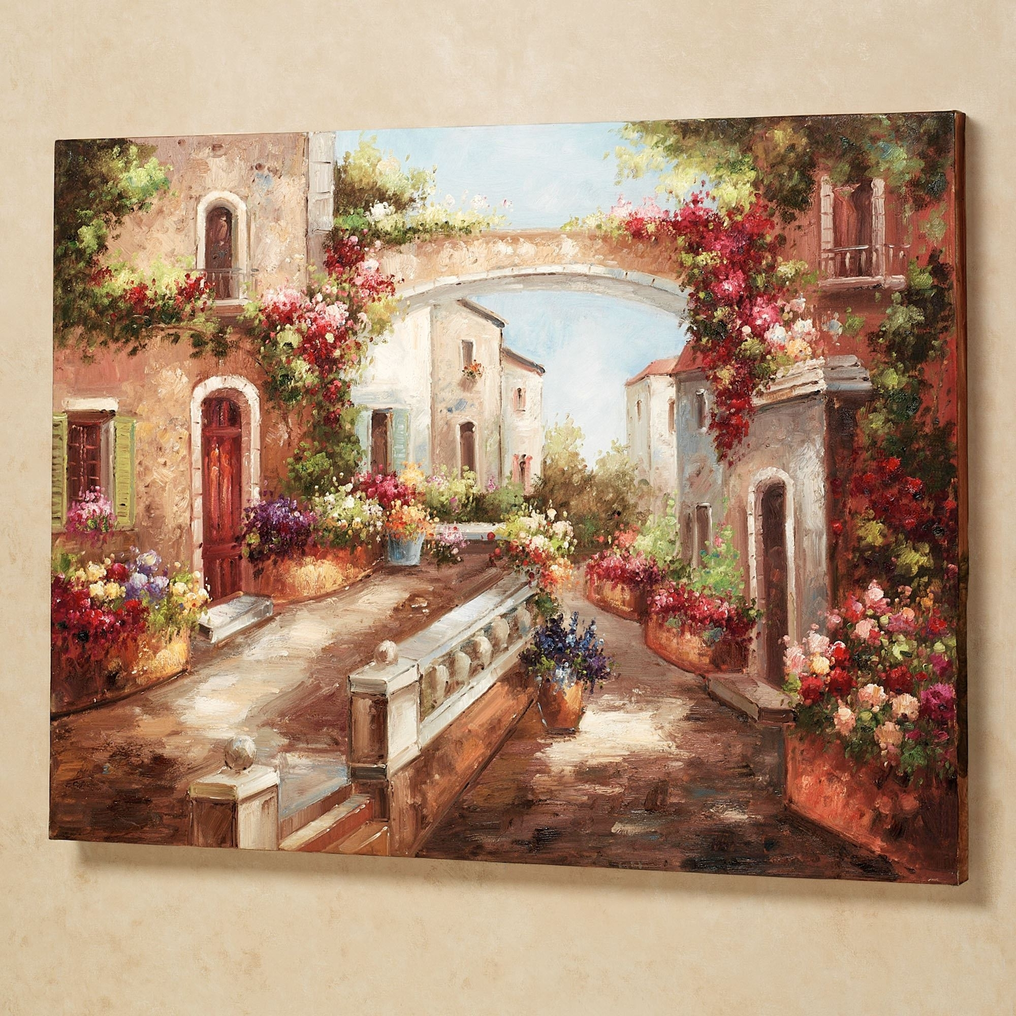 Vintage Italian Wall Art Within Most Current Wall Art Design: Tuscan Wall Art Rectangle Architecture Buildings (View 13 of 15)