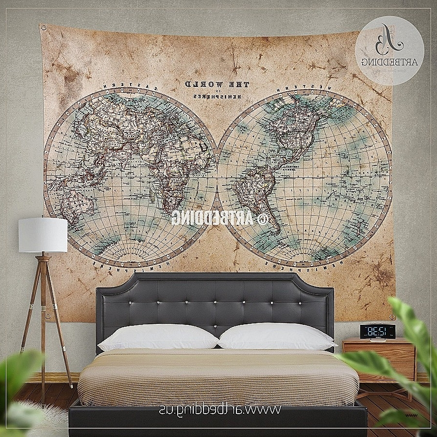 Vintage Map Wall Art Pertaining To Trendy Wall Art Lovely Vintage Maps Wall Art Hd Wallpaper Photographs (View 13 of 15)
