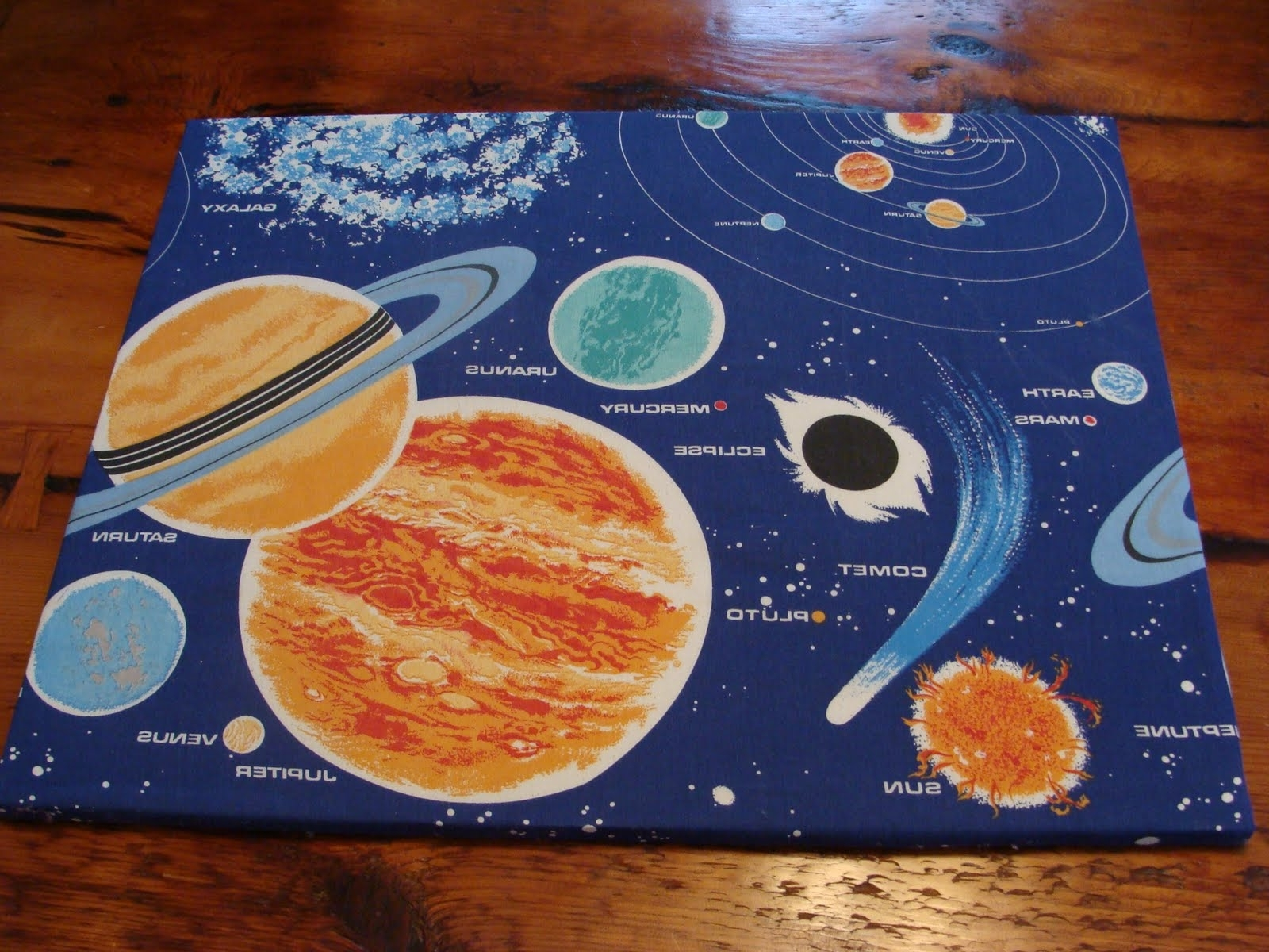 Vintage Pollyanna: Custom Solar System Wall Art From Upcycled 80S For Well Known Solar System Wall Art (View 14 of 15)