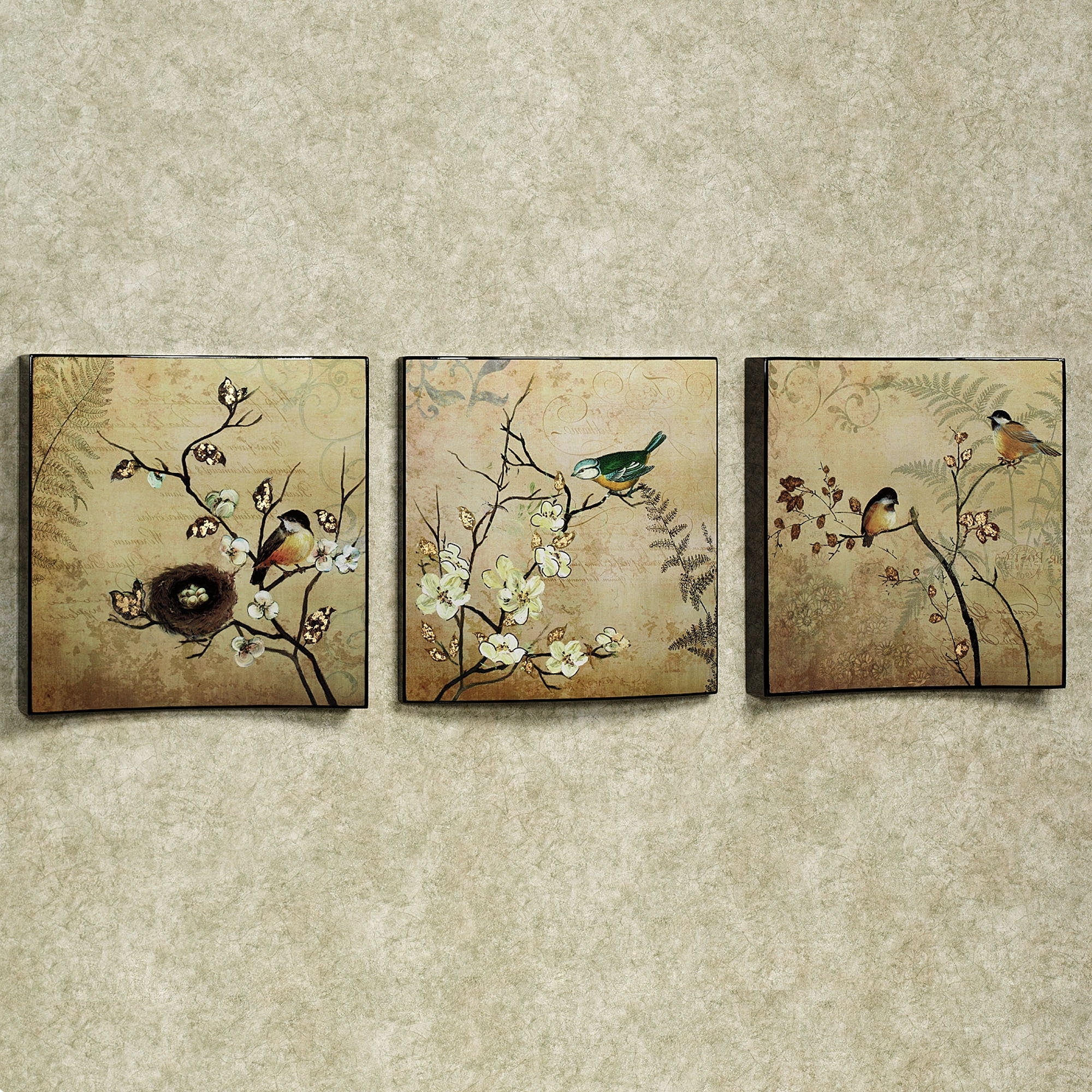 Vintage Style Wall Art Regarding Well Known Wall Art Ideas Design : Vintage Style Wall Art Set Of Three Nature (View 2 of 15)