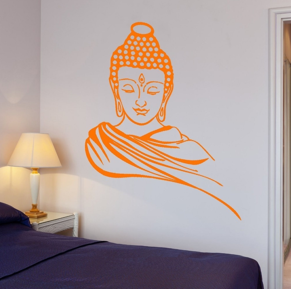 Vinyl 3D Wall Art Inside 2018 3D Poster Classic Religion Buddhism Buddha Meditation Wall Sticker (Gallery 9 of 15)
