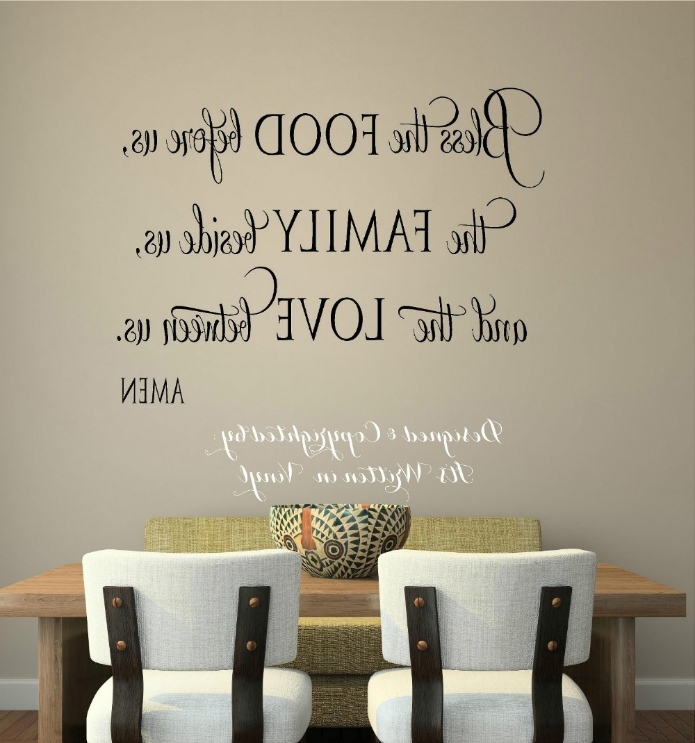 Vinyl Decal Home Decor Inside Current Christian Word Art For Walls (Gallery 5 of 15)